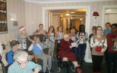 Bringing Melodious Christmas Tidings to our Elderly Neighbours