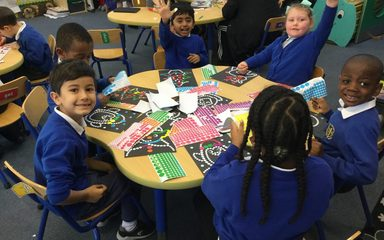 Oak Class Christmas craft morning