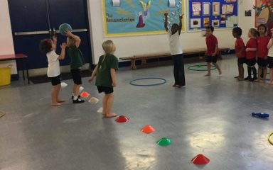 Oak Class had fun playing 'Protect your Pin'