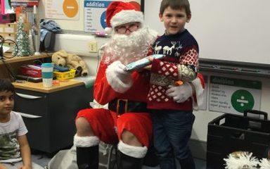 Santa Visits Beech Class
